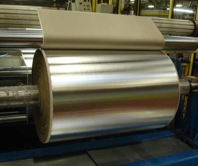 Aluminio AlFiPa laminado con material de aislamiento.